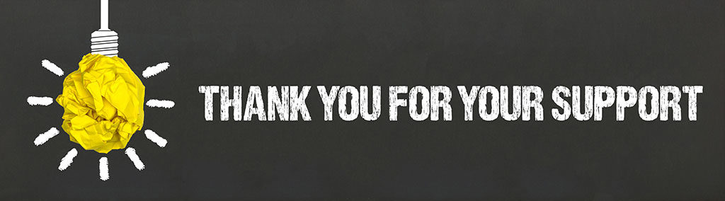 21 future - thank you for your support banner